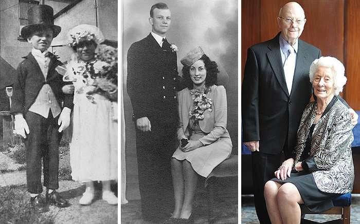 Пары, воссоздавая свои старые фотографии, доказывают, что любовь вечна
