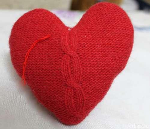 Вовняні сердечка до Дня закоханих