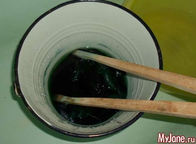 Фарбування в техніці вузликового батику