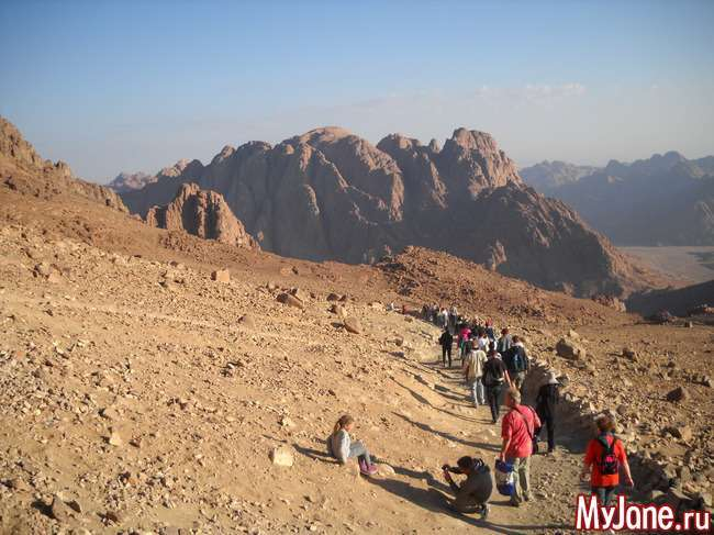 Чудовий світанок на горі Мойсея
