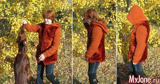 Куртка кольору Боси. Вязання гачком + шиття