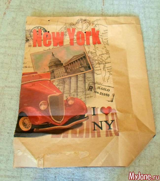 Панно-кишеня з подарункових пакетів. Майстер-клас